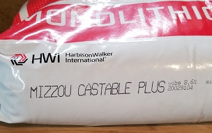 Mizzou Plus, A 3000°F rated high Alumina Castable Refractory (5 lb bag)